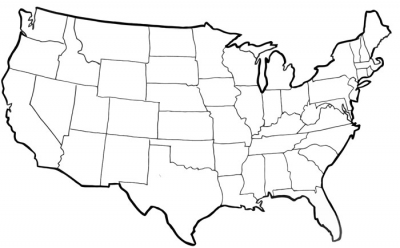 Simple us map outline